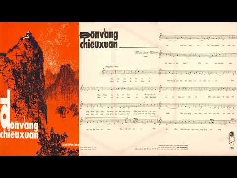 🎵 Đồn Vắng Chiều Xuân (Trần Thiện Thanh) Nhật Trường, Như Thủy Pre 1975 | Tờ Nhạc Xưa