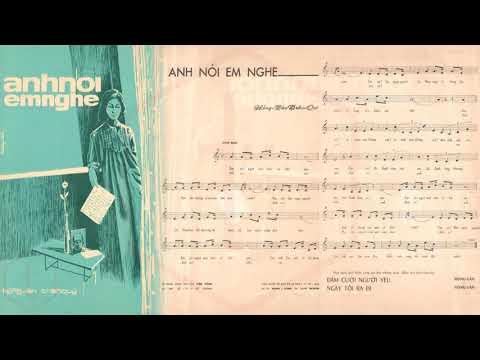 🎵 Anh Nói Em Nghe (Hồng Vân, Trần Quý) Hoàng Oanh Pre 1975 | Tờ Nhạc Xưa