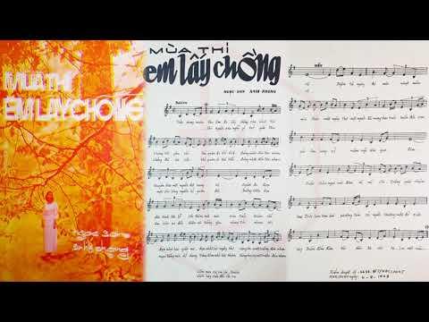 🎵 Mùa Thi Em Lấy Chồng (Ngọc Sơn, Anh Phong) Giao Linh Pre 1975 | Tờ Nhạc Xưa
