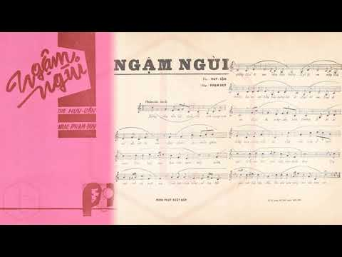 🎵 Ngậm Ngùi (Phạm Duy) Tứ Ca Nhật Trường Pre 1975 | Tờ Nhạc Xưa