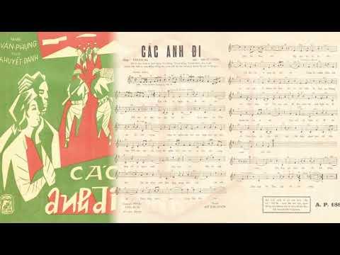 🎵 Các Anh Đi (Văn Phụng) Ngọc Cẩm, Nguyễn Hữu Thiết Pre 1975 | Tờ Nhạc Xưa
