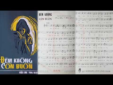 🎵 Đêm Không Còn Buồn (Song Ngọc, Hoài Linh) Hoàng Oanh Pre 1975 | Tờ Nhạc Xưa