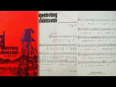 🎵 Đồn Vắng Chiều Xuân (Trần Thiện Thanh) Anh Khoa Pre 1975 | Tờ Nhạc Xưa