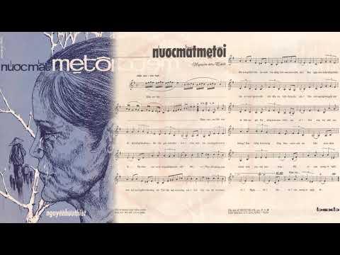 🎵 Nước Mắt Mẹ Tôi (Nguyễn Hữu Thiết) Hoàng Oanh Pre 1975 | Tờ Nhạc Xưa