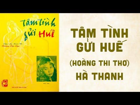 🎵 Tâm Tình Gửi Huế (Hoàng Thi Thơ) Hà Thanh Pre 1975 | Bìa Nhạc Xưa