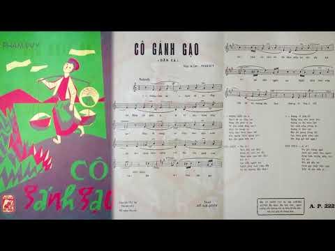 🎵 Cô Gánh Gạo (Phạm Duy) Thái Thanh Pre 1975 | Tờ Nhạc Xưa