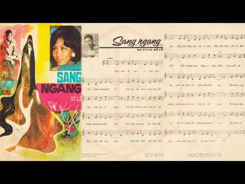 🎵 Sang Ngang (Đỗ Lễ) Phương Dung Pre 1975 | Tờ Nhạc Xưa