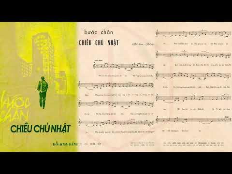 🎵 Bước Chân Chiều Chủ Nhật (Đỗ Kim Bảng) Thanh Thúy Pre 1975 | Tờ Nhạc Xưa