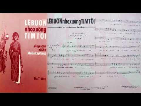 🎵 Lệ Buồn Nhỏ Xuống Tim Tôi (Mai Trường) Nhật Thiên Lan Pre 1975 | Tờ Nhạc Xưa