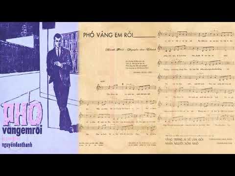 🎵 Phố Vắng Em Rồi (Mạnh Phát, Nguyễn Đan Thanh) Hà Thanh Pre 1975 | Tờ Nhạc Xưa