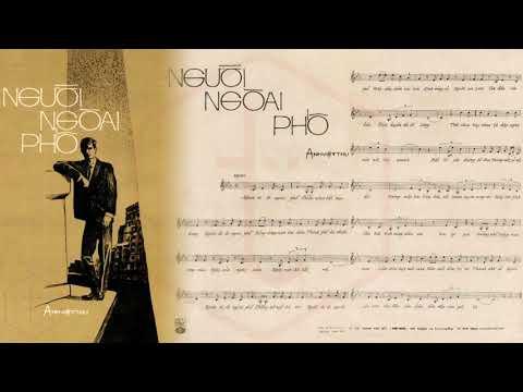 🎵 Người Ngoài Phố (Anh Việt Thu) Phương Đại Pre 1975 | Tờ Nhạc Xưa