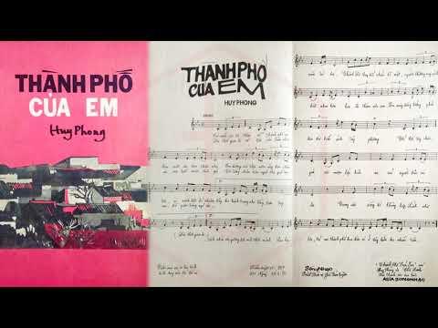 🎵 Thành Phố Của Em (Huy Phong) Chế Linh Pre 1975 | Tờ Nhạc Xưa