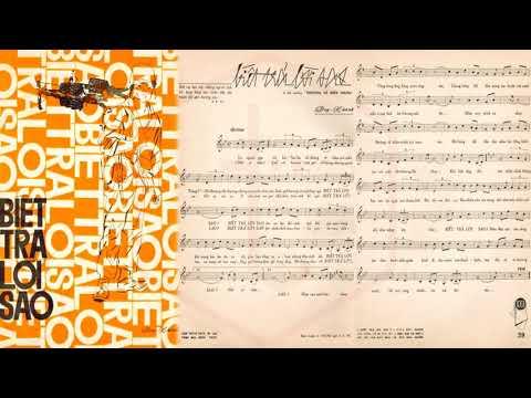 🎵 Biết Trả Lời Sao (Duy Khánh) Hoàng Oanh Pre 1975 | Tờ Nhạc Xưa