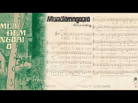 🎵 Mưa Đêm Ngoại Ô (Đỗ Kim Bảng) Thần Đồng Hương Lan Pre 1975 | Tờ Nhạc Xưa
