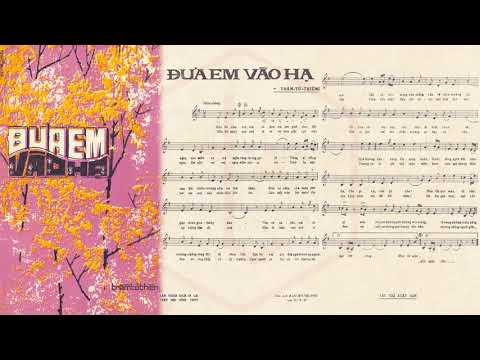 🎵 Đưa Em Vào Hạ (Trầm Tử Thiêng) Duy Khánh Pre 1975 | Tờ Nhạc Xưa