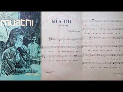 🎵 Mùa Thi (Đỗ Kim Bảng) Ban Hoàng Lan Pre 1975 | Tờ Nhạc Xưa