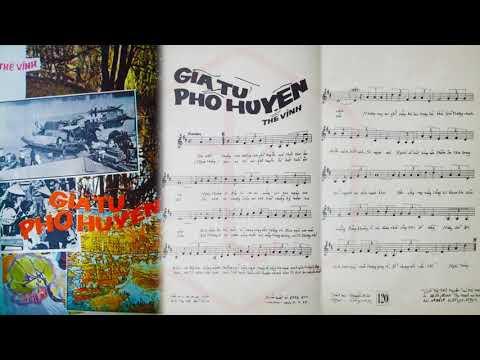 🎵 Giã Từ Phố Huyện (Thế Vinh) Đức Minh Pre 1975 | Tờ Nhạc Xưa