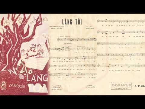 🎵 Làng Tôi (Chung Quân) Thanh Lan Pre 1975 | Tờ Nhạc Xưa