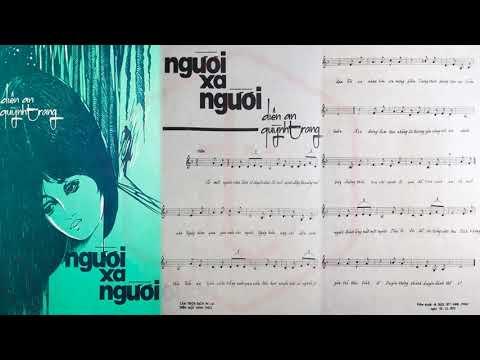 🎵 Người Xa Người (Diên An, Quỳnh Trang) Thanh Thúy Pre 1975 | Tờ Nhạc Xưa