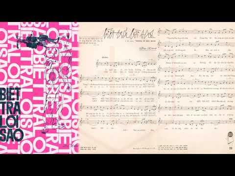 🎵 Biết Trả Lời Sao (Duy Khánh) Thanh Tuyền Pre 1975 | Tờ Nhạc Xưa