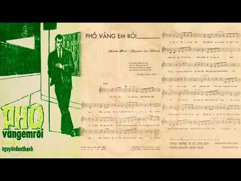 🎵 Phố Vắng Em Rồi (Mạnh Phát, Nguyễn Đan Thanh) Mỹ Thể Pre 1975 | Tờ Nhạc Xưa