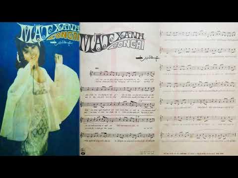 🎵 Mắt Xanh Con Gái (Trịnh Lâm Ngân) Connie Kim Pre 1975 | Tờ Nhạc Xưa