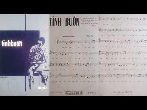 🎵 Tình Buồn (Hồng Vân) Thanh Thúy Pre 1975 | Tờ Nhạc Xưa