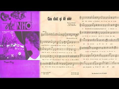 🎵 Còn Chút Gì Để Nhớ (Phạm Duy) Tứ Ca Nhật Trường Pre 1975 | Tờ Nhạc Xưa