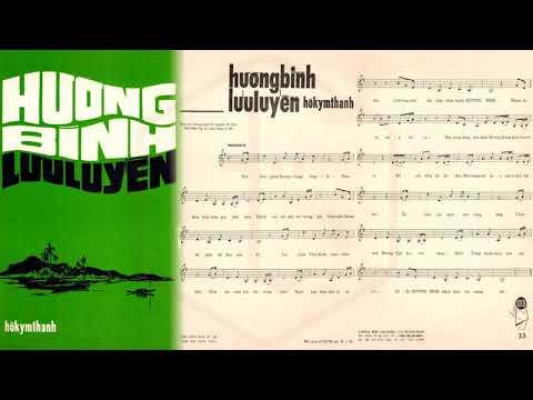 🎵 Hương Bình Lưu Luyến (Hồ Kym Thanh) Thanh Thúy Pre 1975 | Tờ Nhạc Xưa