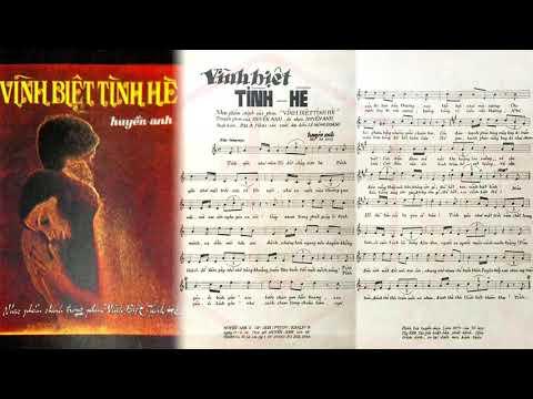 🎵 Vĩnh Biệt Tình Hè (Huyền Anh) Nguyễn Chánh Tín Pre 1975 | Tờ Nhạc Xưa