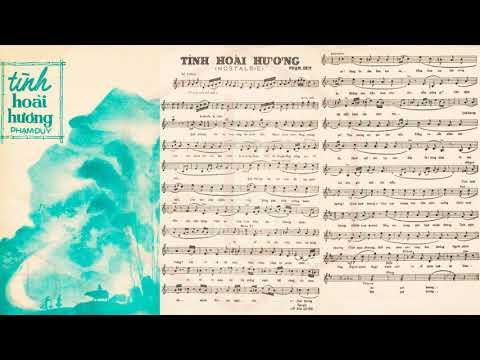 🎵 Tình Hoài Hương (Phạm Duy) Ban Thăng Long Pre 1975 | Tờ Nhạc Xưa