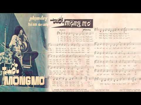 🎵 Tuổi Mộng Mơ (Phạm Duy) Thái Hiền Pre 1975 | Tờ Nhạc Xưa