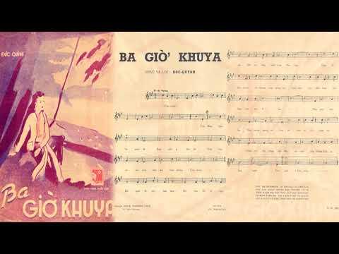 🎵 Ba Giờ Khuya (Đức Quỳnh) Trúc Mai Pre 1975 | Tờ Nhạc Xưa