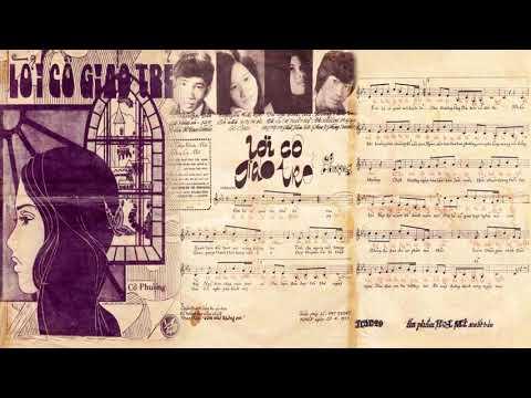 🎵 Lời Cô Giáo Trẻ (Cô Phượng) Thanh Tuyền Pre 1975 | Tờ Nhạc Xưa