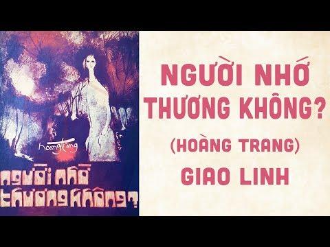 🎵 Người Nhớ Thương Không? (Hoàng Trang) Giao Linh Pre 1975 | Bìa Nhạc Xưa