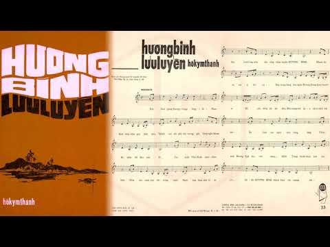 🎵 Hương Bình Lưu Luyến (Hồ Kym Thanh) Hoàng Oanh Pre 1975 | Tờ Nhạc Xưa