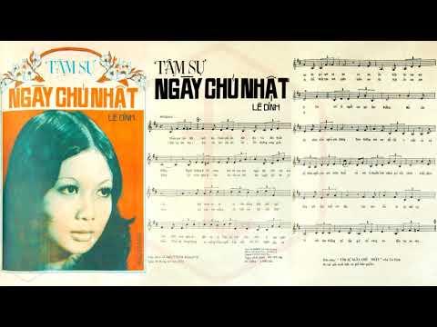 🎵 Tâm Sự Ngày Chủ Nhật (Lê Dinh) Thanh Tuyền Pre 1975 | Tờ Nhạc Xưa