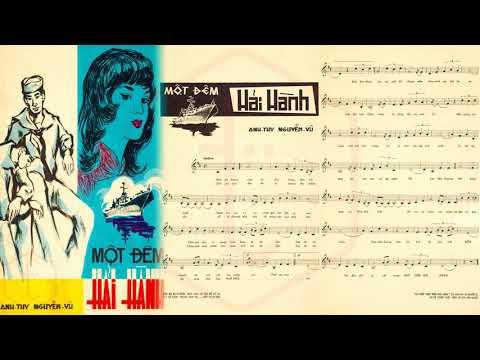 🎵 Một Đêm Hải Hành (Anh Thy, Nguyễn Vũ) Hoàng Oanh Pre 1975 | Tờ Nhạc Xưa