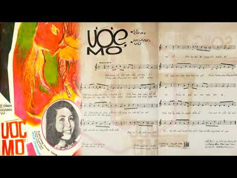 🎵 Ước Mơ (Lê Dinh, Hoàng Vũ) Phương Hoài Tâm Pre 1975 | Tờ Nhạc Xưa
