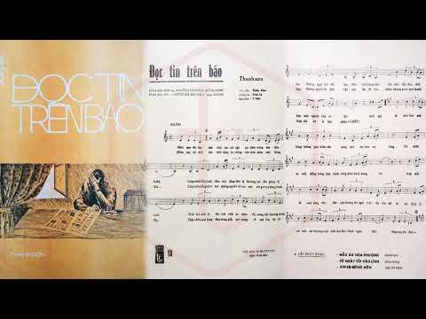 🎵 Đọc Tin Trên Báo (Thanh Sơn) Trúc Ly Pre 1975 | Tờ Nhạc Xưa