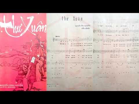 🎵 Thư Xuân (Nguyễn Đào Nguyễn, Viễn Chinh) Anh Khoa Pre 1975 | Tờ Nhạc Xưa