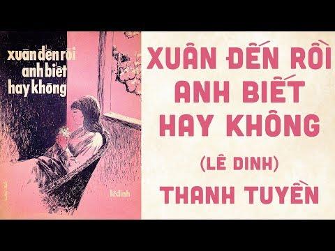 🎵 Xuân Đến Rồi Anh Biết Hay Không (Lê Dinh) Thanh Tuyền Pre 1975 | Bìa Nhạc Xưa