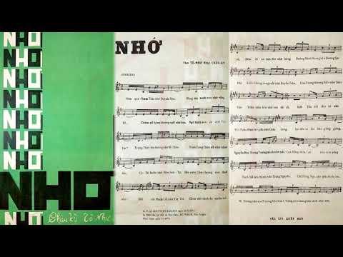 🎵 Nhớ (Tô Như, Châu Kỳ) Hương Lan Pre 1975 | Tờ Nhạc Xưa