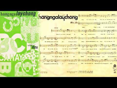 🎵 Hằng Nga Lấy Chồng (Viễn Dzu) Hùng Cường Pre 1975 | Tờ Nhạc Xưa