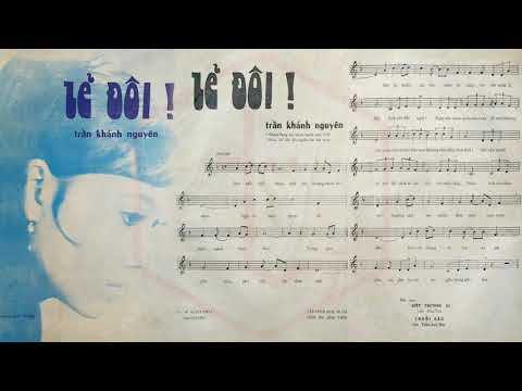 🎵 Lẻ Đôi (Trần Khánh Nguyên) Trúc Mai Pre 1975 | Tờ Nhạc Xưa