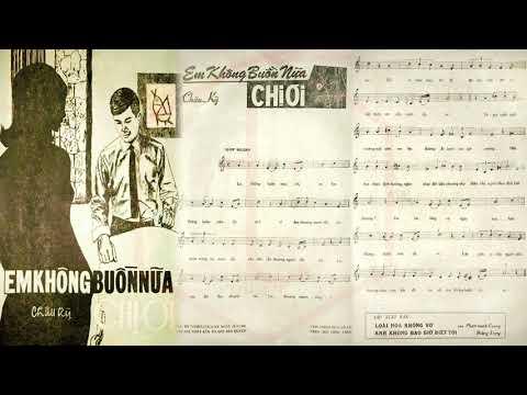 🎵 Em Không Buồn Nữa Chị Ơi (Châu Kỳ) Kim Loan Pre 1975 | Tờ Nhạc Xưa
