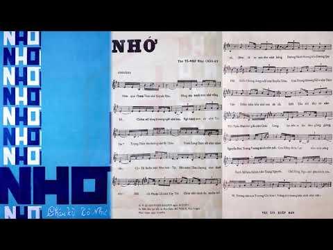 🎵 Nhớ (Châu Kỳ, Tô Như) Hồng Vân Pre 1975 | Tờ Nhạc Xưa