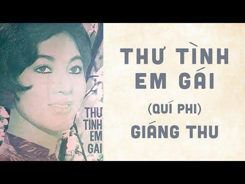 🎵 Thư Tình Em Gái (Quí Phi) Giáng Thu Pre 1975 | Bìa Nhạc Xưa