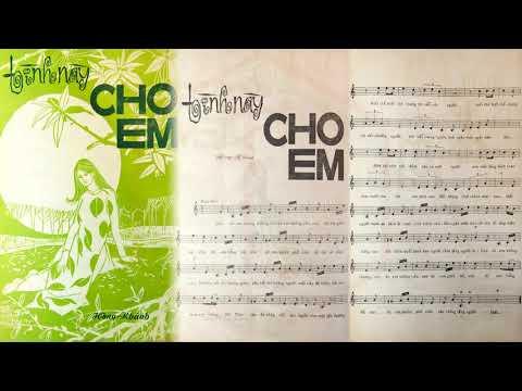 🎵 Tình Này Cho Em (Hồng Khánh) Lệ Thu Pre 1975 | Tờ Nhạc Xưa
