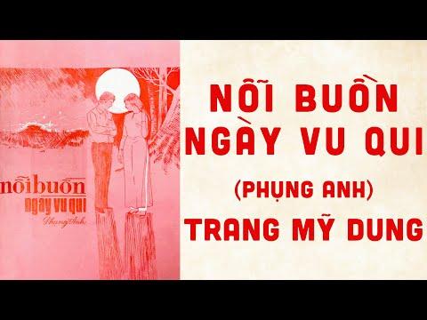🎵 Nỗi Buồn Ngày Vui Qui (Phụng Anh) Trang Mỹ Dung Pre 1975 | Bìa Nhạc Xưa